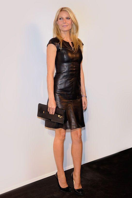 Gwyneth Paltrow http://www.vogue.fr/mode/look-du-jour/articles/la-robe-en-cuir-de-gwyneth-paltrow/16437