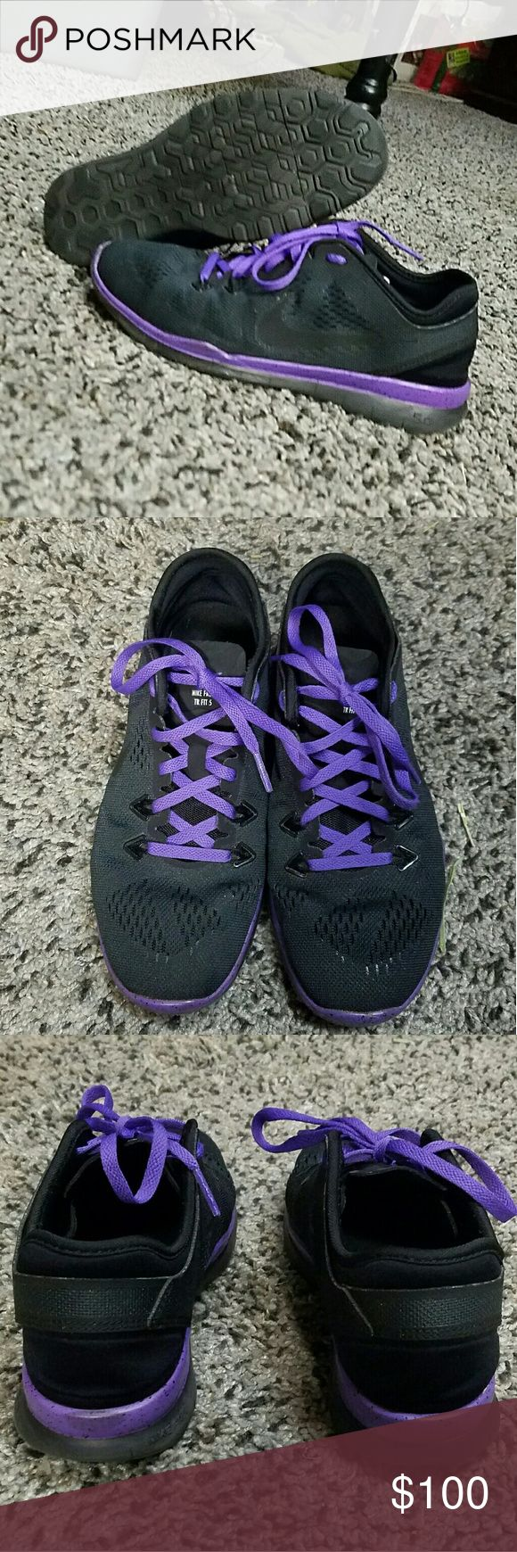 Custom NIKE iD running shoes Custom NIKE iD running shoes I bought a few months ago, size 6.5 women's US  Extremely light weight and comfortable Black and purple with black speckles on the purple rim Feel free to ask questions or for more pictures Make an offer! Nike Shoes Athletic Shoes