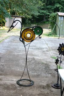 Kathi's Garden Art Rust-n-Stuff: recycled sculpture