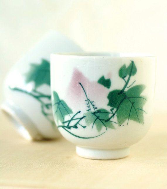 Vintage Teacups Japanese Porcelain Pink and by TheOtherLifeVintage