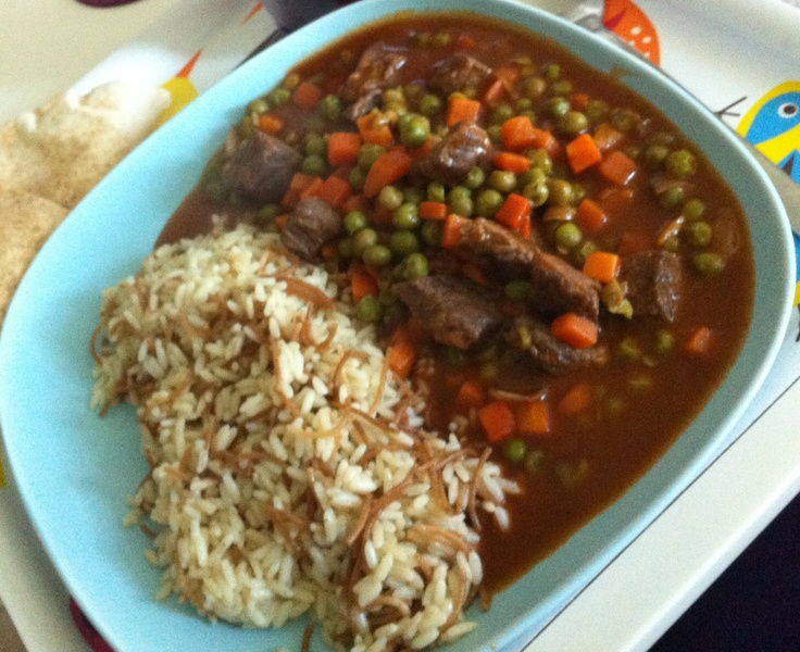 Beef and peas stew with arabic rice middle eastern food beef and peas stew with arabic rice middle eastern food pinterest stew rice and arabic food forumfinder Image collections