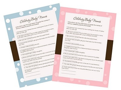 A FREE Baby Shower Activity!