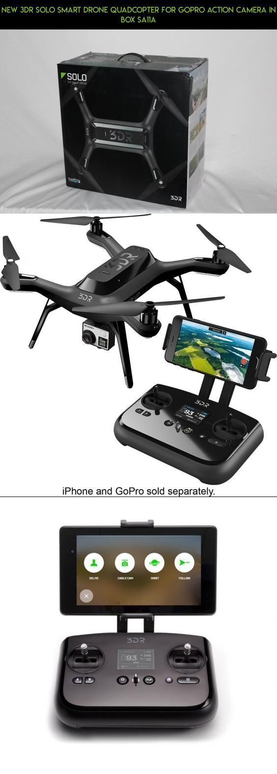 NEW 3DR SOLO SMART DRONE QUADCOPTER for GoPro Action Camera in Box SA11A #camera #plans #technology #fpv #shopping #camera #gadgets #parts #products #tech #drone #kit #racing #3dr