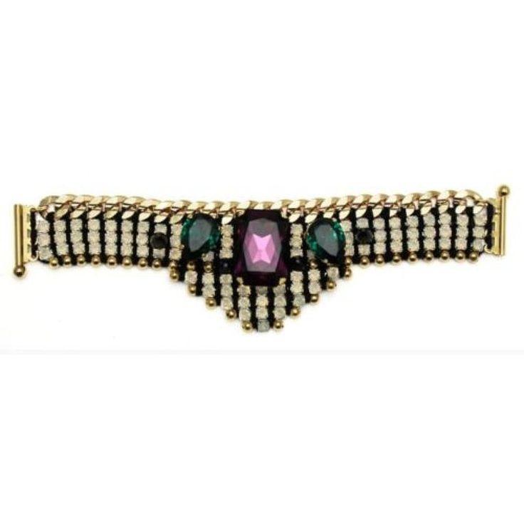 Akong London 24K Gold Plated White Opal Embellished Bracelet