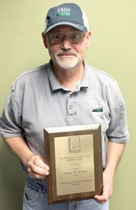 Jim Evans was the winner of the Lifetime Achievement Award from the Tennessee Chapter of the Wildlife Society.