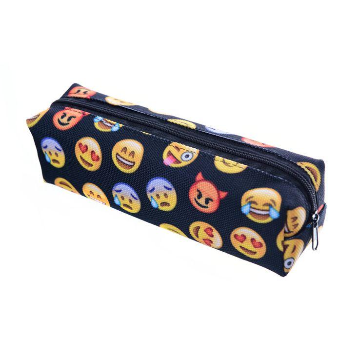 Zohra Black Emoji 3D Printing cosmetic bag 2016 New Fashion women makeup bag Pencil necessaire trousse de maquillage makyaj♦️ SMS - F A S H I O N  http://www.sms.hr/products/zohra-black-emoji-3d-printing-cosmetic-bag-2016-new-fashion-women-makeup-bag-pencil-necessaire-trousse-de-maquillage-makyaj/ US $2.60
