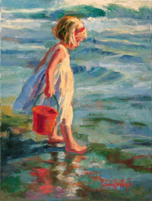 Wet Toes, Corinne Hartley artist. Galleries in Carmel California- Jones/Terwilliger