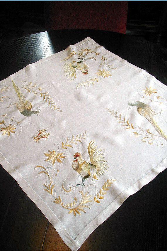 Antique Society Silk Embroidery Vanderbilt by BorderCollieVintage