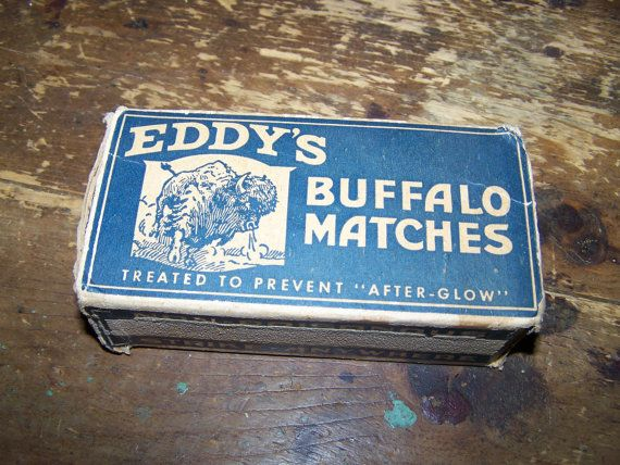 Advertising Vintage Paper Match Box EDDY'S  by ATokenOfLove