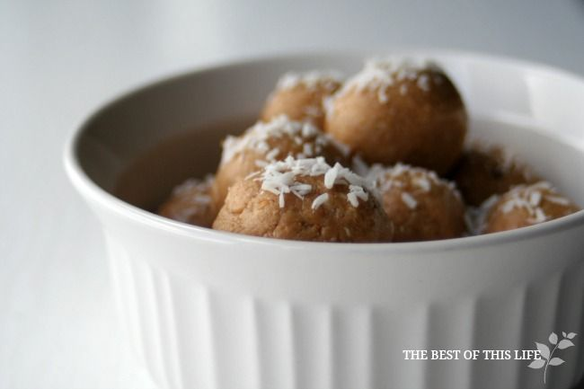 No bake gluten-free energy bites   http://www.bestofthislife.com/2013/07/healthy-peanut-butter-coconut-bites.html