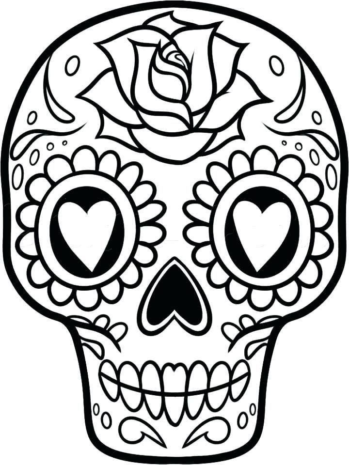 Dibujos de Cráneos Para Colorear (con imágenes) | Dibujo dia de ...