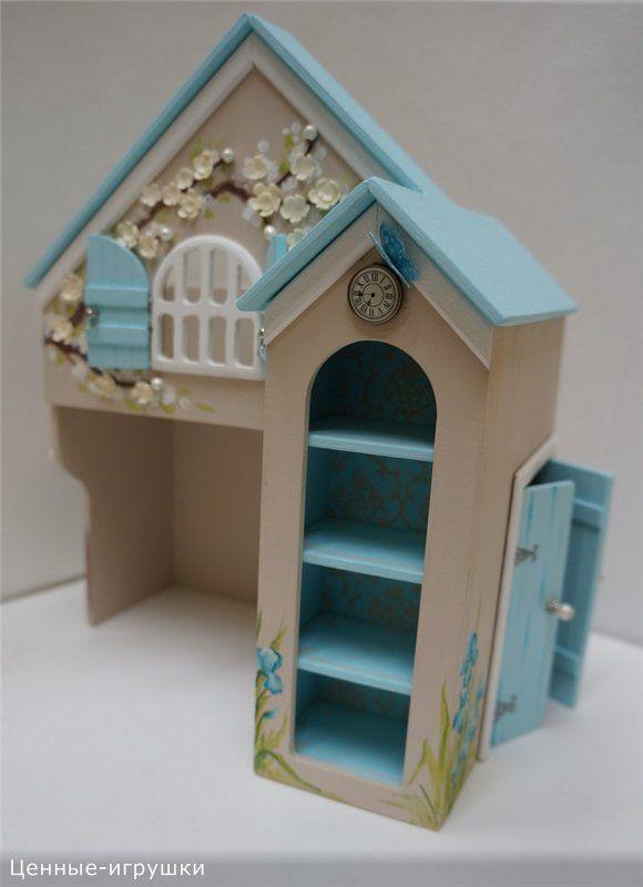 Миниатюрная кровать-домик для куколок 16 см / Домики для кукол, мебель своими руками. Коляски, кроватки и другое / Бэйбики. Куклы фото. Одежда для кукол