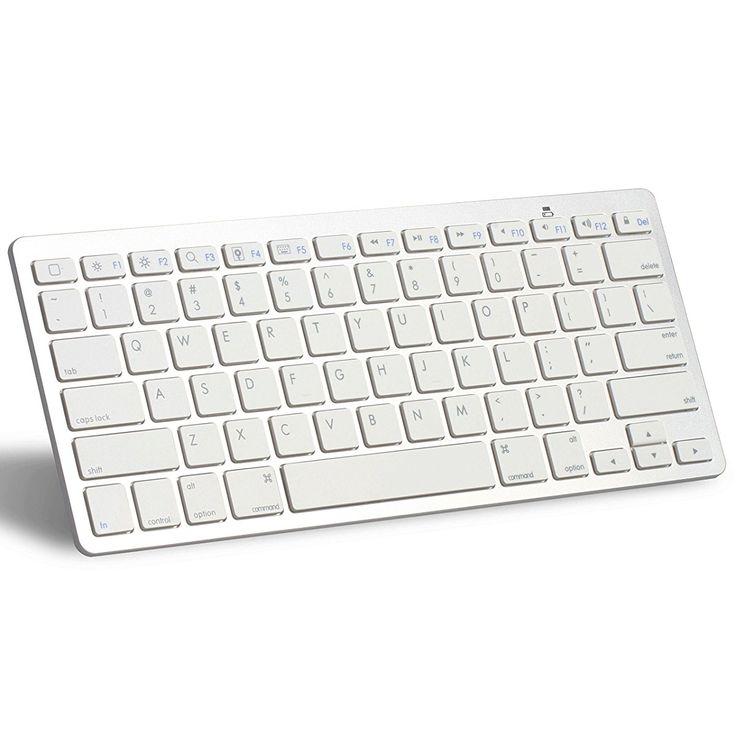 OMOTON Ultra-Slim Bluetooth Keyboard for Apple iPad Air 3/2/1, iPad Pro, iPad Mini 4/3/2/1, iPad 4/ 3/ 2, iPhone 6/6S, iPhone 6 plus and other Bluetooth Enabled Devices