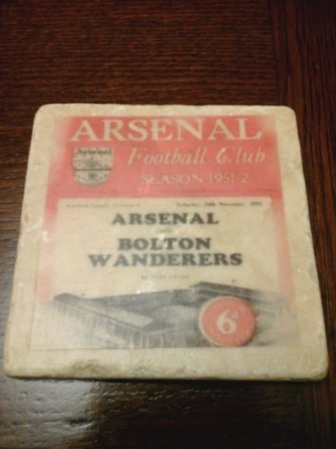 An old & unusual  #stoneware   coaster   arsenal v  #bolton  wanderers  #24/11/51,  View more on the LINK: 	http://www.zeppy.io/product/gb/2/201712880894/