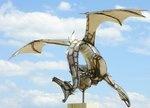 amazing metal dragon sculpture: Dragon Hoarding, Dragon Sculpture, Amazing Dragon, Metals Dragon