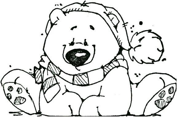 1926 best digi stamps images on pinterest for Coloring page polar bear