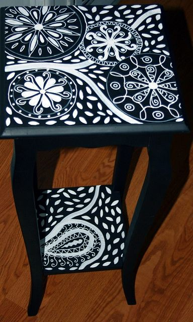 Accent Table Black and White by Rick Cheadle Art and Designs, via Flickr