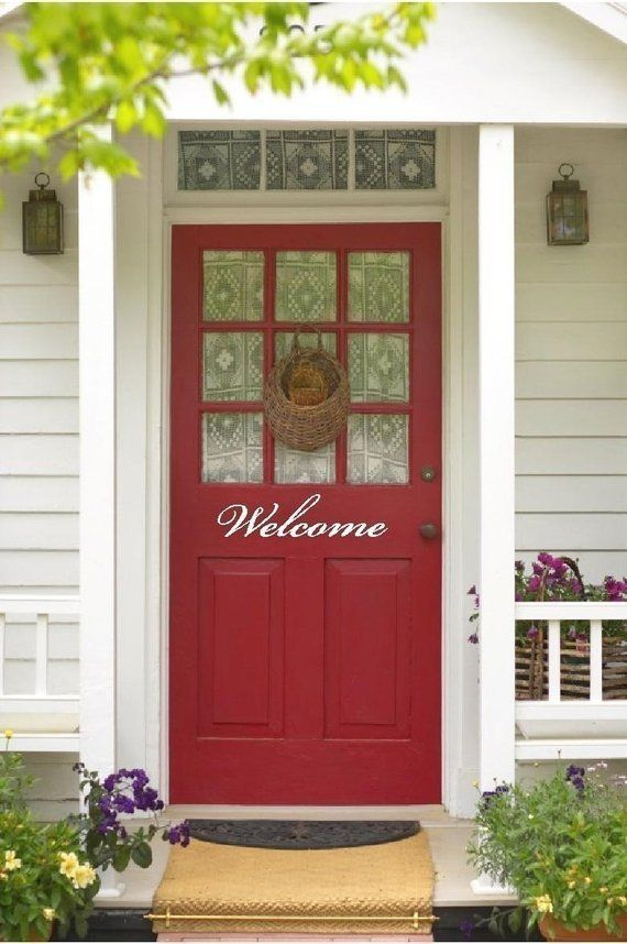 Welcome for Front Door Outside Vinyl Lettering Text