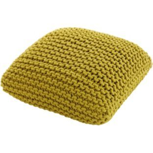 Buy Habitat Knot Small Yellow Floor Cushion at Argos.co.uk - Your Online Shop for Footstools ...