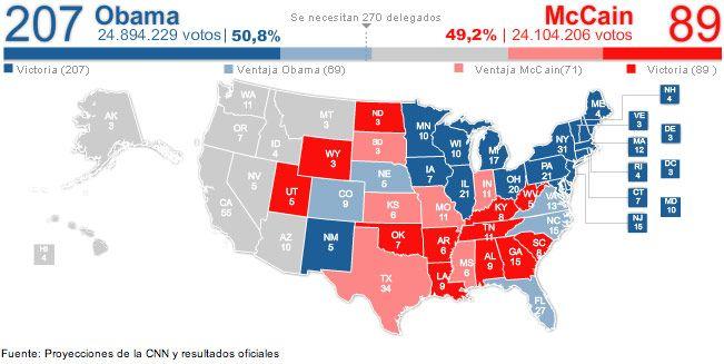 El Mundo 2008 Election Map