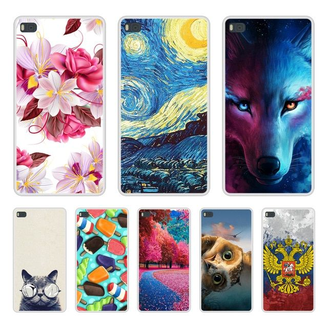 Case Cover For Huawei P8 Soft Silicone TPU Cool Patterned Print ...