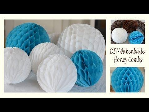 DIY: Wabenbälle für Party-Deko einfach selber machen | Deko Kitchen - YouTube