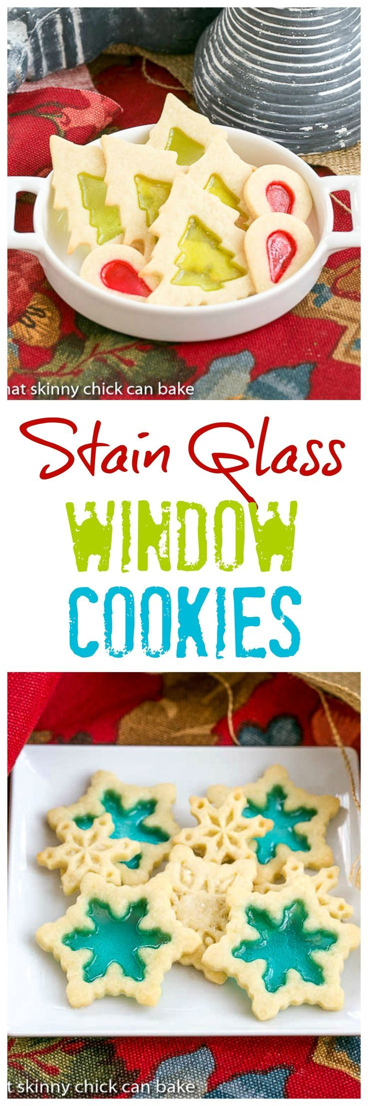 Stained Glass Cookies | Adding a little crushed candy to your sugar cookies makes for a fabulous holiday cookie! @lizzydo