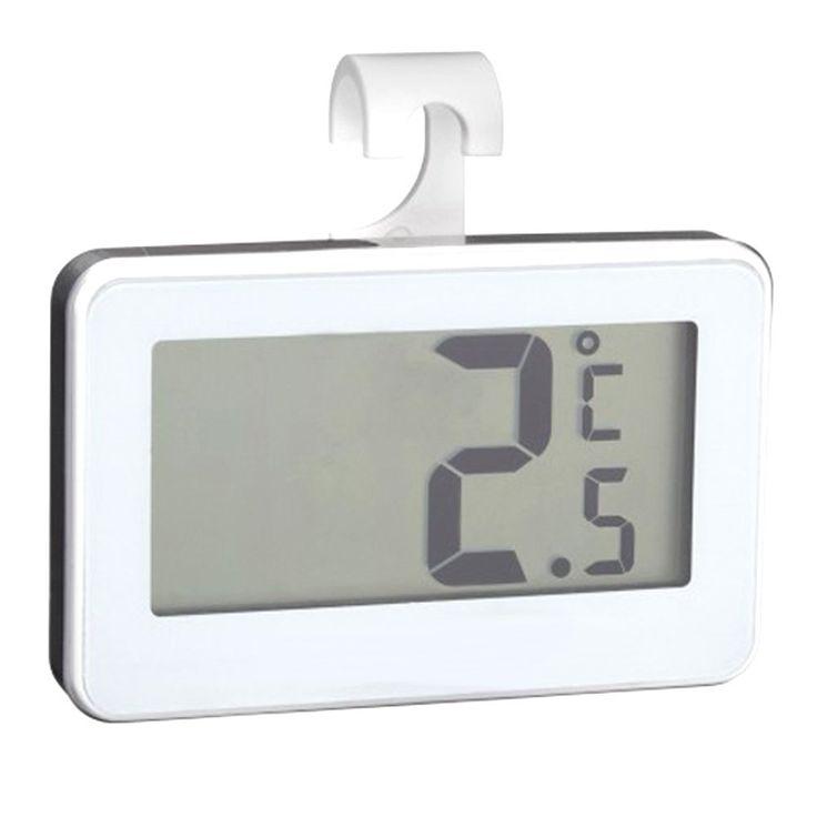Thermomètre de Frigo Electronique - Triple système d'accroche : crochet, support, magnétique. Sonde intégrée: Amazon.fr: Cuisine & Maison