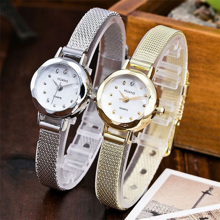 """""""Cute"""" HAUNS Watch with Stainless Steel Mesh Band"""