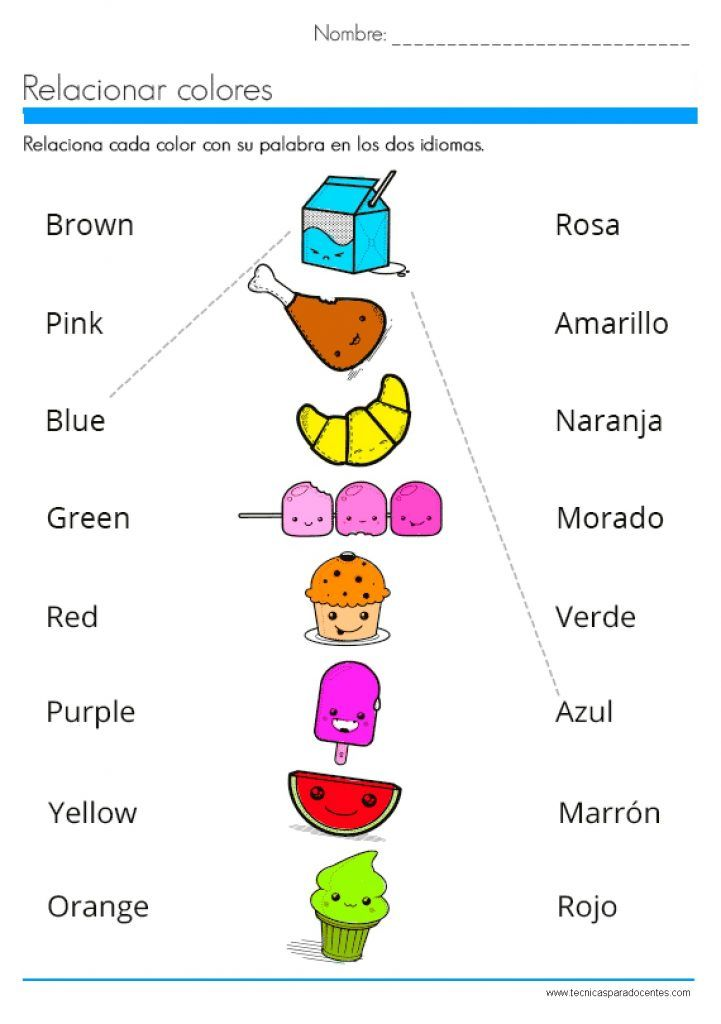 Pdf Excelente Cuadernillo De Ingles Para Niños Ingles Para Preescolar Cuaderno De Ingles Colores En Ingles