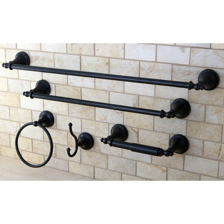 Naples Oil Rubbed Bronze 5-piece Bathroom Accessory Set | Overstock.com $59.99