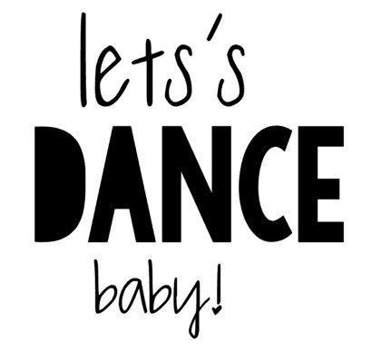 Strijkapplicatie   Let's dance baby