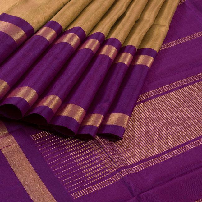 Sri Sagunthalai Silks Handwoven Korvai Kanchipuram Silk Saree with Ganga Jamuna Border 10002713 - profile - AVISHYA.COM