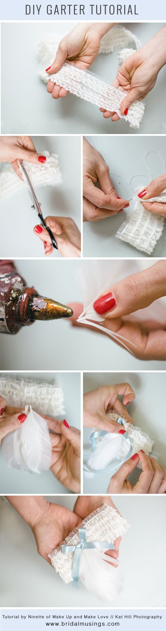 Make Your Own Garter DIY Tutorial // Kat Hill Photography