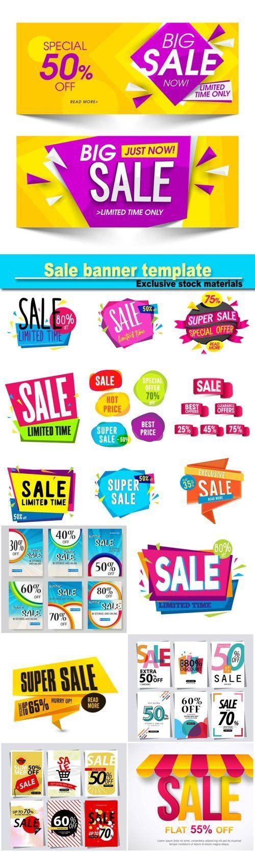 Sale banner template sale sticker or label