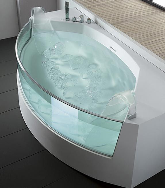 Glass Bathtub #uniquebathtub