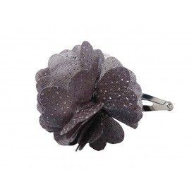 Rileah Design Fabric Clip Grey Speckled Flower