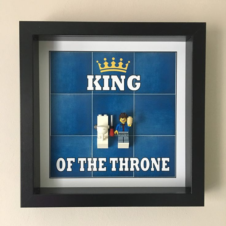 king of the throne minifigure frame