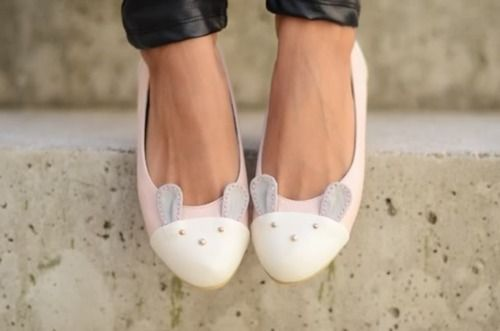 Bunny flat shoes
