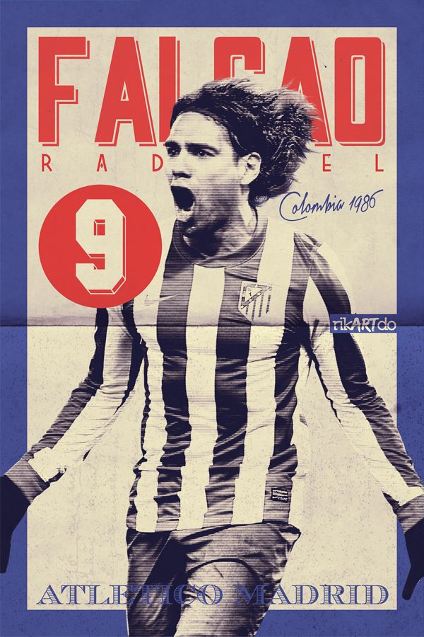 Football Posters by Ricardo Mondragon, via Behance