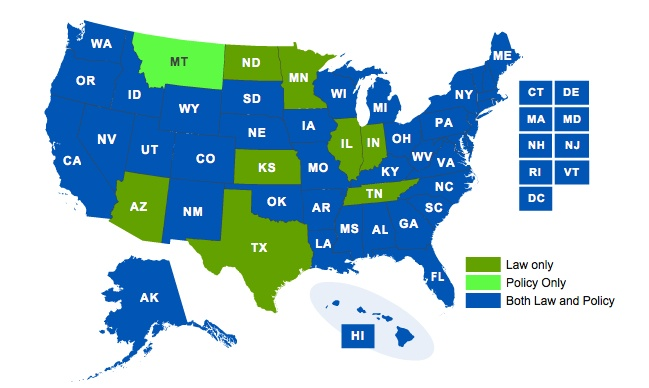 There are no federal anti-bullying laws.  See how your state rates. Go to link & click on your state below to find out more about your state's anti-bullying laws and policies and which of the key components they contain.    Please re-pin this & help eradicate bullying.   www.standUPspeakOUT.com