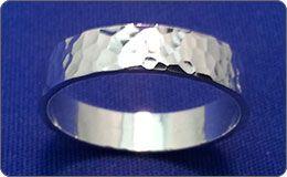Silversmithing - Hammered Ring