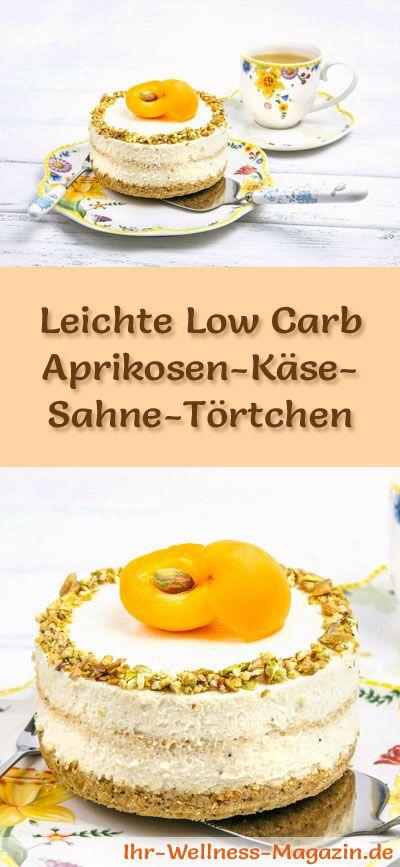 Rezept für Low Carb Aprikosen-Käse-Sahne-Törtchen: Die kalorienreduzierte Käse-Sahne-Törtchen werden ohne Zucker und Getreidemehl gebacken. Sie sind kohlenhydratarm ...