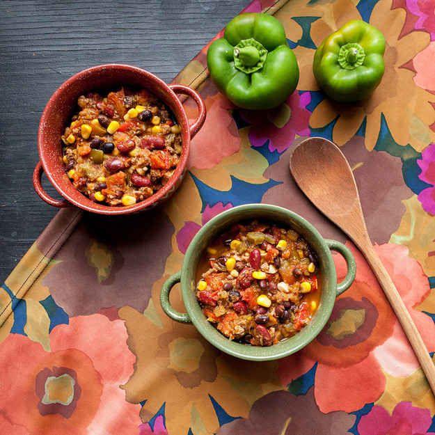 Feijão Preto e Chili de Quinoa