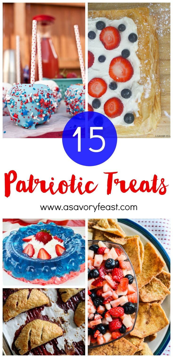 15 Patriotic Treats, perfect for Memorial Day or the 4th of July!