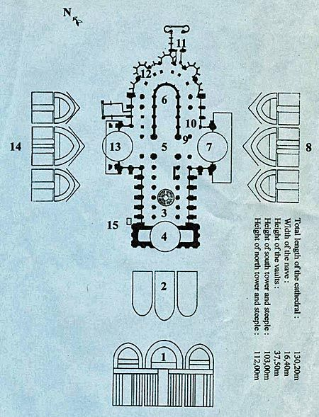 Plan Cathedral of Notre Dame de Chartres