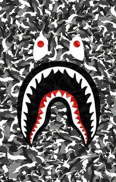 Bape Camo black whait Seni grafis
