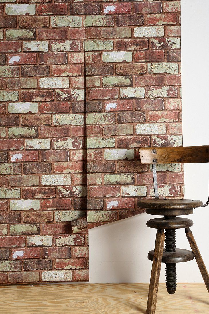 "Urban Outfitters Graham & Brown Red Brick Wallpaper. 60.00/32 feet long x 20"" wide"