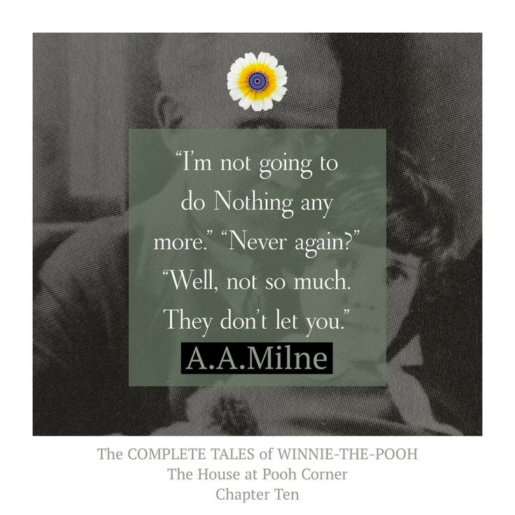 """""""I'm not going to do Nothing anymore..."""" #wednesdaywisdom #pooh #poohbear #winniethepooh #authentic #quote #aamilnequote #aamilne >>> https://whatthechrysanthemumknows.com/2018/01/17/im-not-going-to-do-nothing-anymore/"""