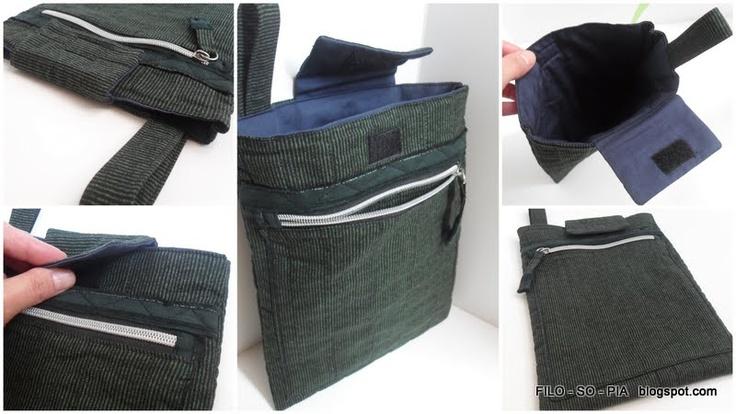 filo - so - pia: tutorial  Custodia iPad con tasca chiusa da zip